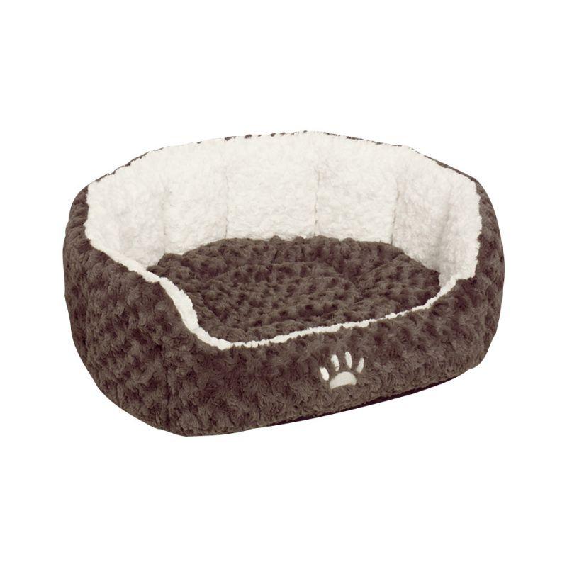 Nobby | Komfort Bett oval NEIKU braun/weiß