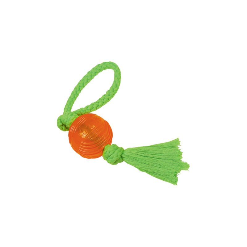 Nobby | TPR Ball mit Seil orange