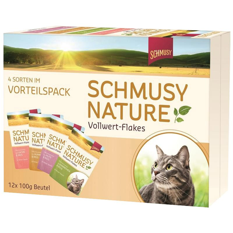Schmusy | Nature Vollwert-Flakes Multipack