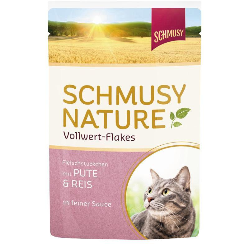 Schmusy | Nature Vollwert-Flakes mit Pute & Reis
