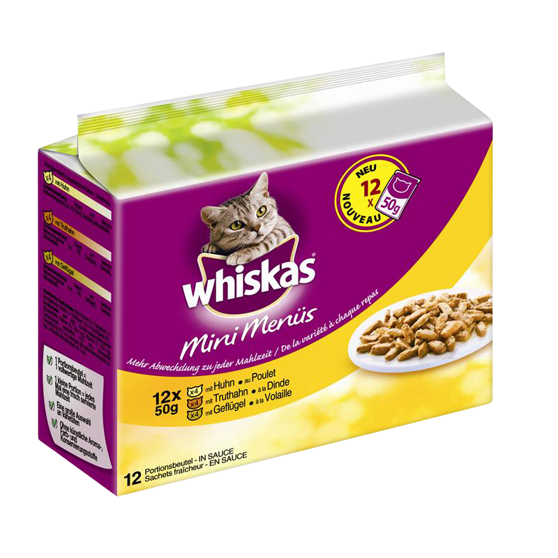 Whiskas | Mini Menüs Huhn, Truthahn und Geflügel