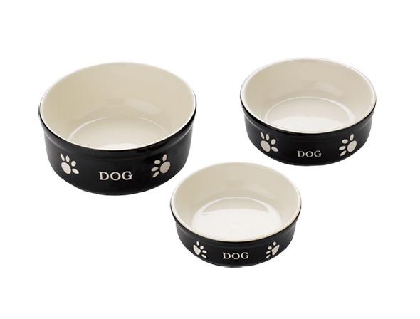 Nobby | Hunde Keramiknapf DOG schwarz / beige