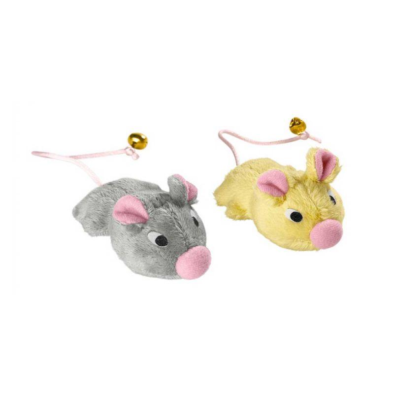 Hunter | Katzenspielzeug Set Mäuse mit Glöckchen