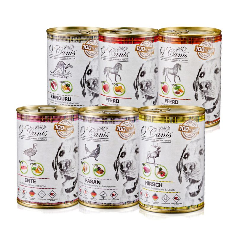 O'Canis   Topseller-Mix (Pferd-Kartoffel, Pferd-Leinsamen, Hirsch, Ente, Känguru, Fasan)