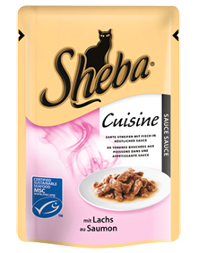 Sheba | zarte Streifen mit Lachs in Sauce