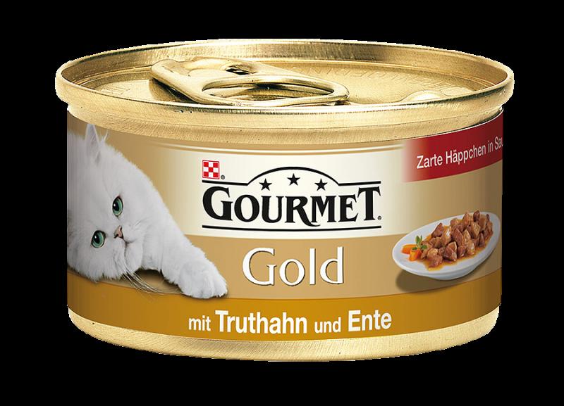 Gourmet | Gold Zarte Häppchen in Sauce mit Truthahn und Ente
