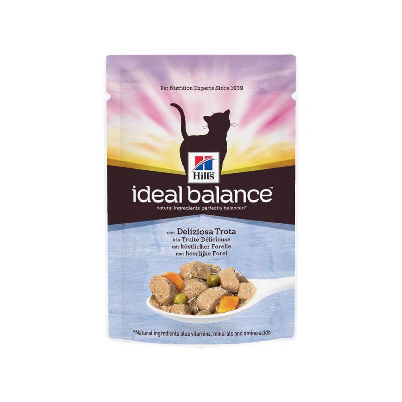 Hill's | Ideal Balance Feline Adult mit Forelle und Gemüse im Portionsbeutel