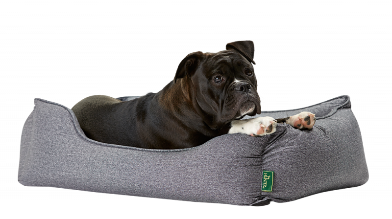 Hunter | Tiersofa Boston in Grau