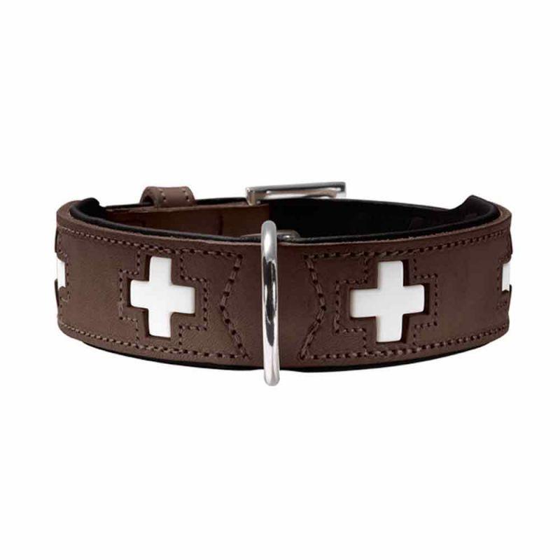 Hunter | Halsband Swiss braun/ schwarz