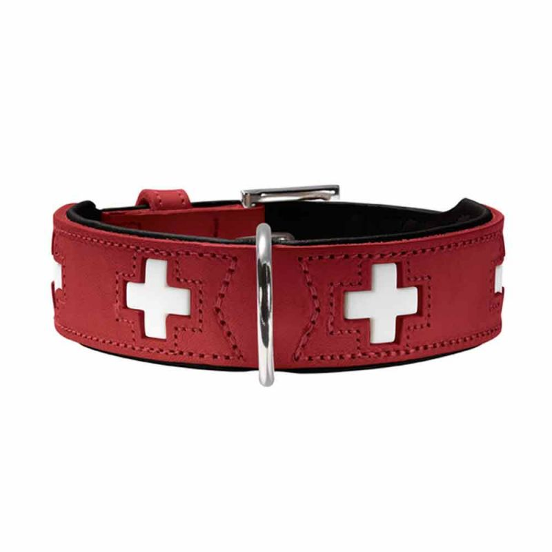 Hunter | Halsband Swiss rot/ schwarz