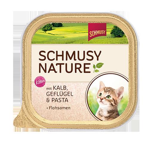 Schmusy | Nature Kitten mit Kalb, Geflügel & Pasta