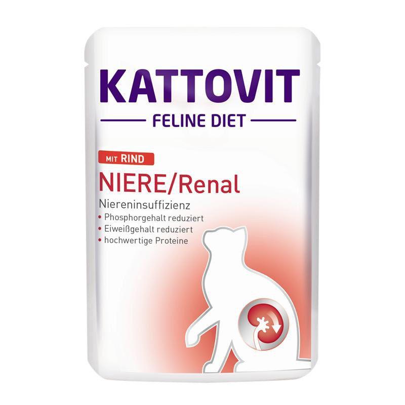 Kattovit | Feline Diets Niere/Renal mit Rind