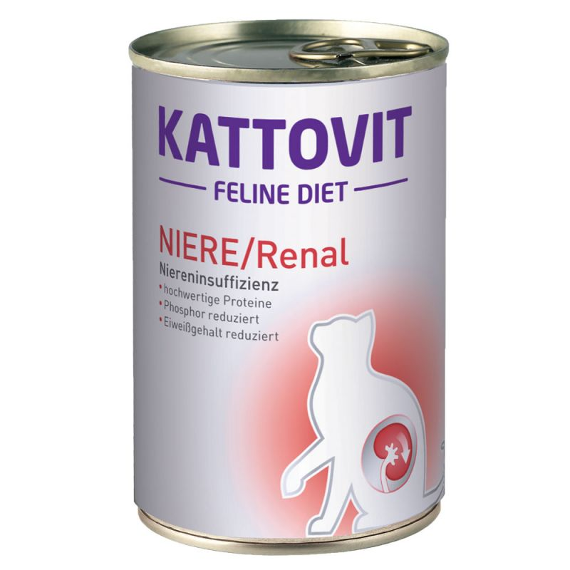Kattovit   Feline Diet NIERE/Renal   Spezial-/Tierarztfutter,Fisch,Dose,Nassfutter 1