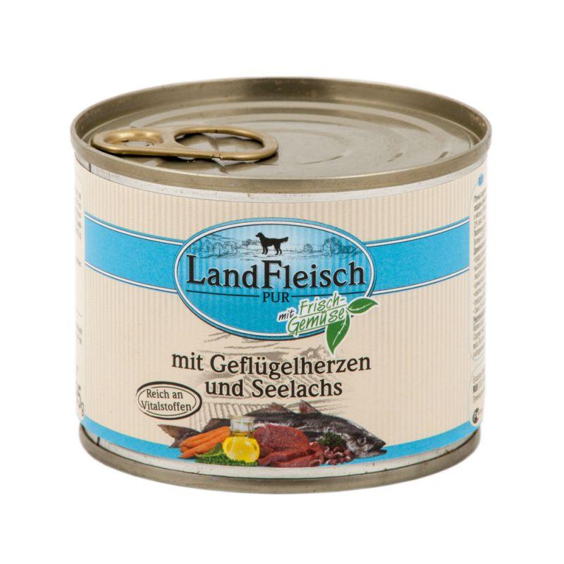 LandFleisch | Pur Geflügelherzen & Seelachs