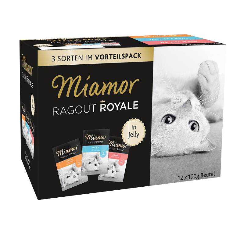 Miamor | Ragout Royale in Jelly Multibox mit Pute, Lachs und Kalb