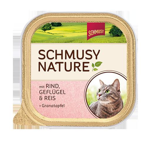 Schmusy | Nature mit Rind, Geflügel & Reis & Granatapfelextrakt