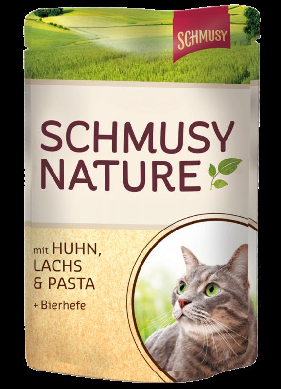 Schmusy | Nature mit Huhn, Lachs & Pasta & Bierhefe