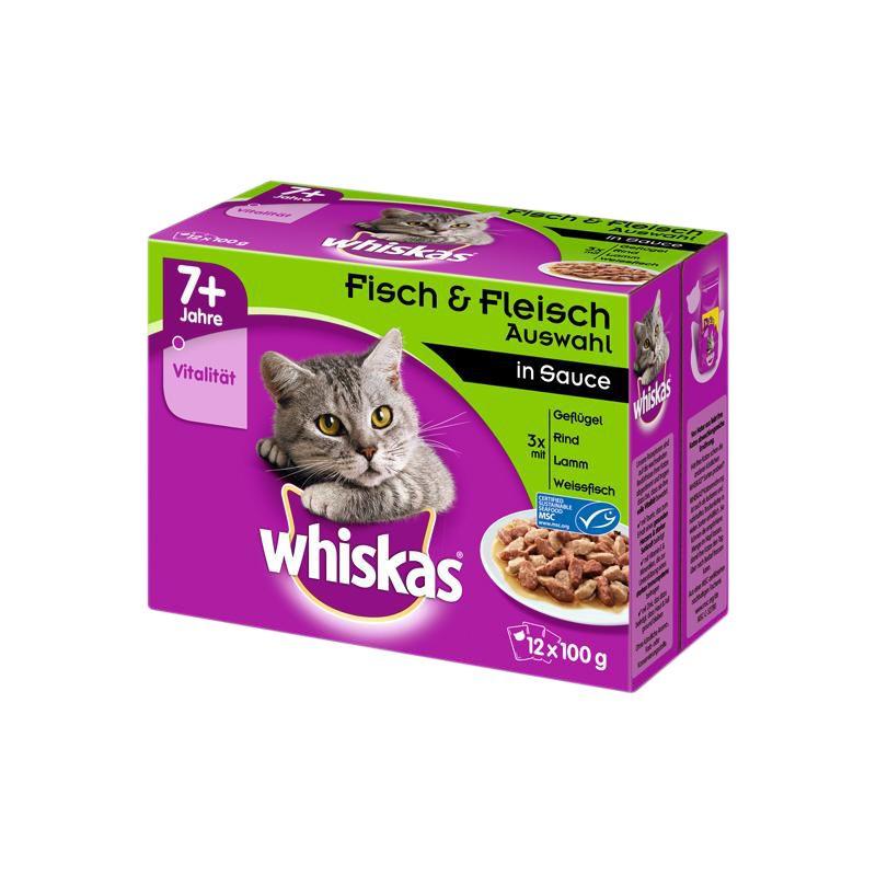 Whiskas | Fisch & Fleisch Auswahl in Sauce Multipack