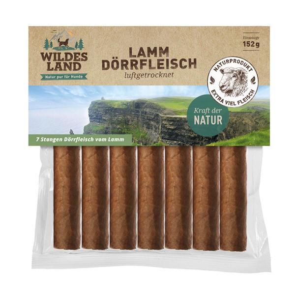 Wildes Land | Lamm Dörrfleisch | Lamm,Kauknochen & Kausnacks,Kaurollen & Kaustangen 1