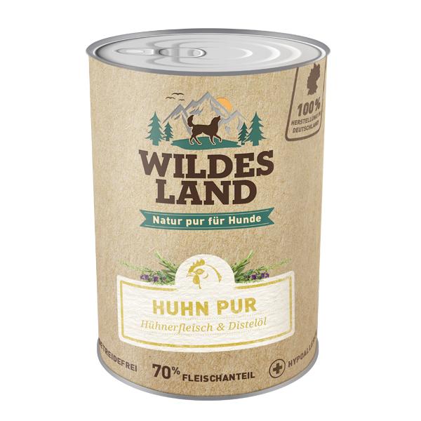Wildes Land   Huhn PUR mit Distelöl (getreidefrei)