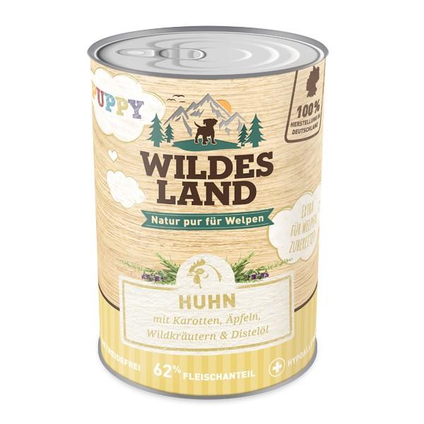 Wildes Land   Puppy - Huhn mit Karotte