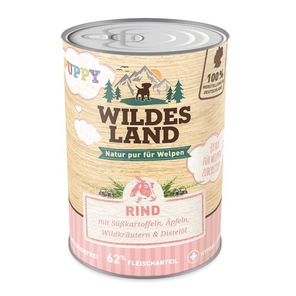 Wildes Land | Puppy - Rind mit Süßkartoffel