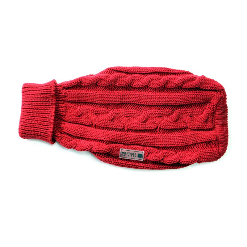 Wolters | Zopf-Strickpullover - rot