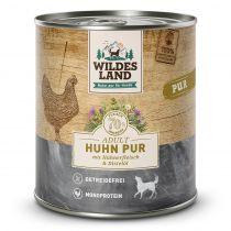 Wildes Land - Nassfutter - Huhn PUR mit Distelöl 800 g (getreidefrei)