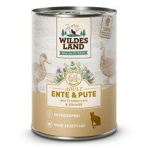 Wildes Land - Nassfutter - Ente und Pute mit Distelöl 400g