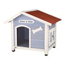 Trixie | natura Hundehütte Dog's Inn mit Satteldach hellblau/weiß