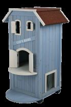 Trixie | Katzenhaus Cat's Home hellblau/weiß