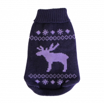 Wolters | Strickpullover Elch in Brombeer/Lavendel