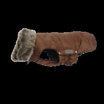 Wolters | Parka mit Fellkragen für Mops & Co in Braun