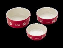 Nobby | Hunde Keramiknapf DOG rot / beige