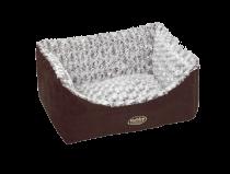 Nobby | Komfort Bett eckig ARUSHA braun
