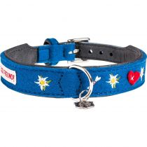 "Hunter | Halsband Adelheid ""Treuer Freund"" Filz in Blau"