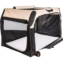 Hunter | Hundetransportbox, beige/schwarz