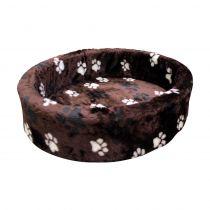 Nobby | Plüschbett Pfote braun, 3-farbig
