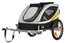 Trixie | Fahrrad-Anhänger grau/schwarz/gelb