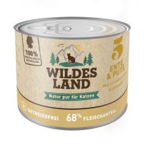 Wildes Land - Nassfutter - Ente und Pute mit Distelöl 200g