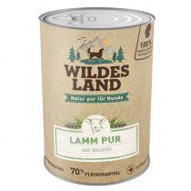 Wildes Land - Nassfutter - Lamm PUR mit Distelöl (getreidefrei) 400g
