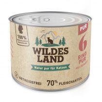 Wildes Land - Nassfutter - Rind und Distelöl 200g (getreidefrei)