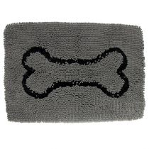 Dog Gone Smart | Dirty Dog Doormat grau