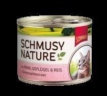 Schmusy | Nature mit Rind, Geflügel & Reis