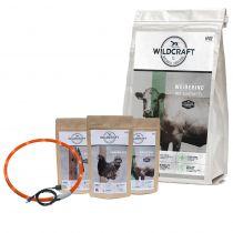 Wildcraft | Aktionspaket | 12 kg Trockenfutter + Trio 3 x 100 g & Leuchthalsband gratis