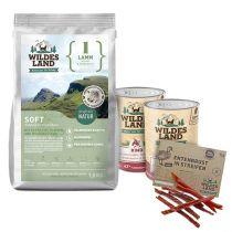 Wildes Land | Soft Hundefutter Sparpaket | 1,5 kg + Nassfutter 2 x 400 g + Snack 70 g