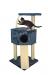 CAT DREAM | Eckboy blau | Sisal,Plüsch,blau 1