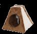 SILVIO DESIGN | Katzenpyramide Corie | Plüsch,braun 1
