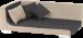 SILVIO DESIGN | Hundesofa Nero | Stoff,beige,grau 1