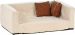 SILVIO DESIGN | Sofa Buddy Velour-Optik | Stoff,beige 1
